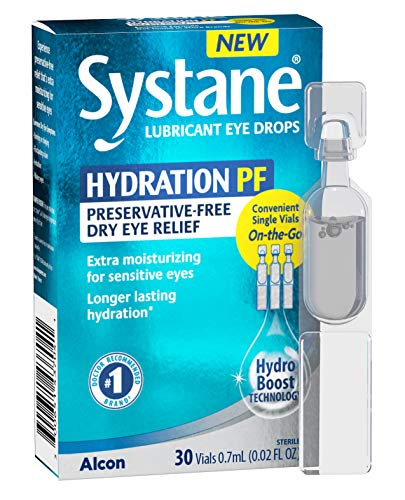 Alcon Systane Hydration Preservative-Free Lubricant Eye Drops 30ct Vials, 30 Count