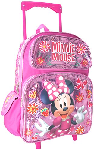 Junior Minnie Mouse Shine Girl's 16' Roller/Rolling Large Backpack