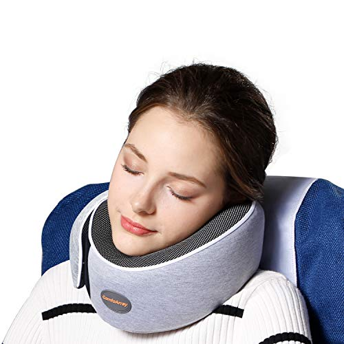 ComfoArray Travel Pillow, Neck Pillow with Head Support Design, Travel Pillow for Airplanes, 100% Memory Foam, Adjustable According to Neck Size. A Whole Travel kit.