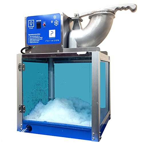 Paragon - Manufactured Fun Arctic Blast SNO Cone Machine for Professional Concessionaires Requiring Commercial Heavy Duty Snow Cone Equipment 1/3 Horse Power 792 Watts, Blue