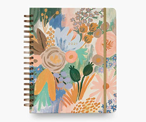 Rifle Paper Co. 2021 Luisa 17-Month Large Planner, Aug. 2020 - Dec. 2021, Weekly and Monthly Pages, Includes Inspirational Quotes and Illustrated Endpapers