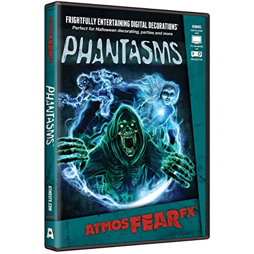 AtmosFX Phantasms Digital Decorations DVD for Halloween Holiday Projection Decorating