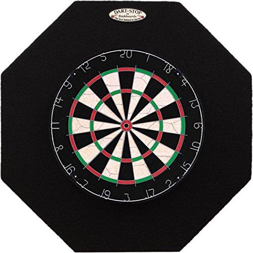 Dart-Stop 29 inch Black Octagon Pro Dart Board Backboard | Wall Protector | Dartboard Surround