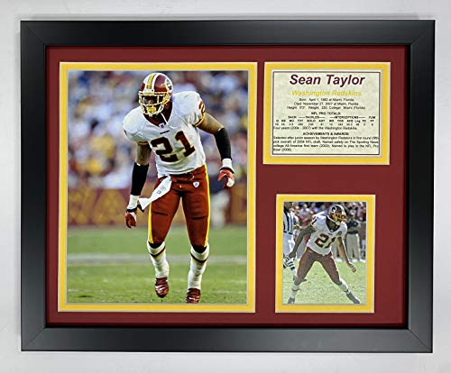 Sean Taylor 11' x 14' Framed Photo Collage by Legends Never Die, Inc. - Home