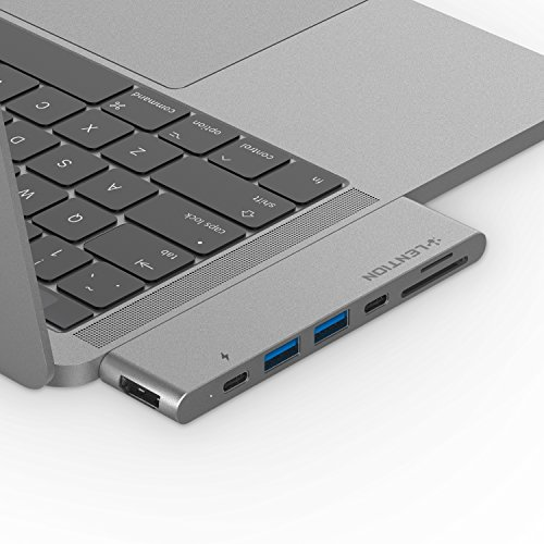 LENTION USB C Portable Hub with 100W Power Delivery, 40Gbps USB C Data Adapter, 4K HDMI, 2 USB 3.0, SD/Micro SD Card Reader Compatible 2016-2020 MacBook Pro 13/15/16, New Mac Air (CB-CS63, Space Gray)