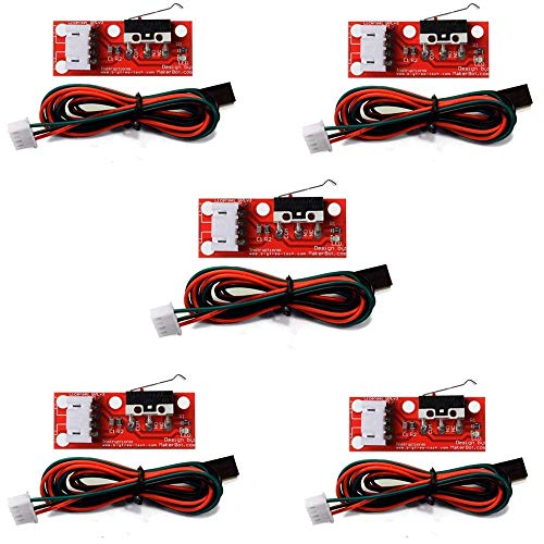 Gowoops 5PCS of Mechanical Endstop Limit Switch with Cable for 3D Printer Prusa Ramps 1.4