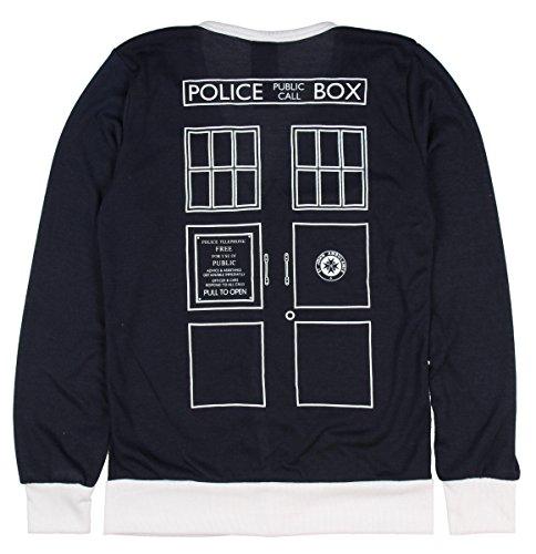 Doctor Who Her Universe Union Jack Tardis Cardigan (Small) Blue