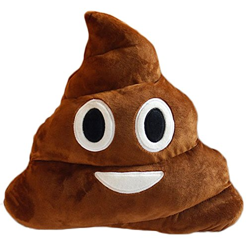 YOZATIA 32cm Poop Plush Pillow Cute Emoji Stuffed Cushion Soft Toy Gifts for Kids Children Party Home Decorations Supplies Favors(Smile Poop)