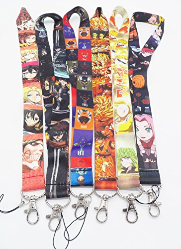 6 Assorted Anime Characters Soul Eater Phone Key Chain Strap LANYARD Set #95