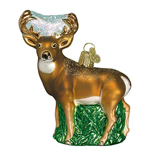 Old World Christmas Wildlife Animals Glass Blown Ornaments for Christmas Tree Whitedail Deer