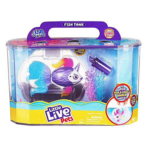 Little Live Pets Lil' Dippers Playset - Magical Water Activated Unboxing and Interactive Feeding Experience - Exclusive Unicorn Fish   for Ages 5+