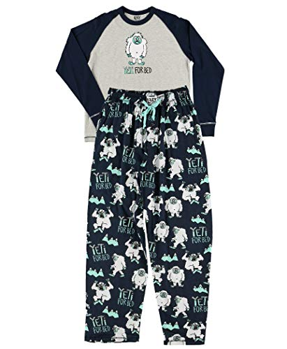 Lazy One Matching Family Pajama Sets for Adults, Kids, and Infants (Yeti for Bed, X-Small)