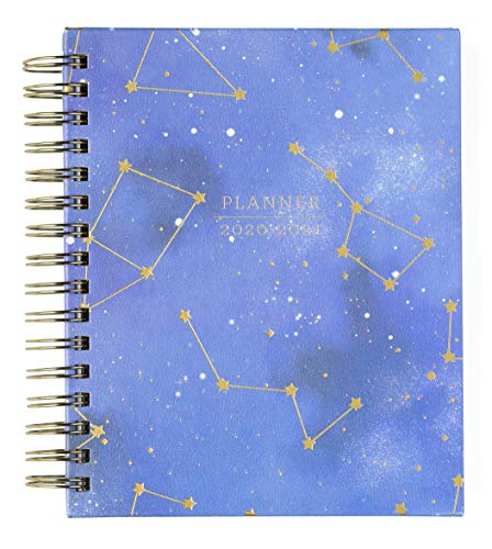 2020-2021 Eccolo Spiral Agenda Planner, Cosmic Gold Stars, Hardcover, Weekly & Monthly Views, 18 Months, Sticker Sheets, Full Color Graphics and Quotes. 7.75 x 8.75