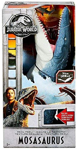 Jurassic World Fallen Kingdom, Jurassic World and Jurassic World 2 Real Feel Mosasaurus 28 Inches, Touch Its Skin and Real Texture, Ages 3+ New