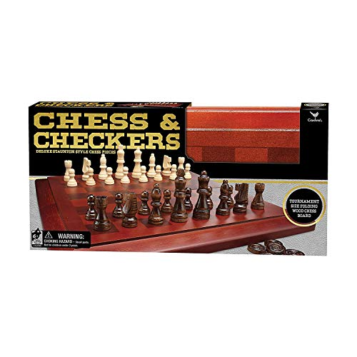 Spin Master, Inc Chess & Checkers Set with Wooden Board