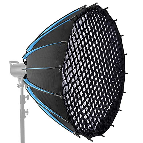 Neewer 47-inch/120CM Hexadecagon Parabolic Softbox with Grid and Carrying Bag, Portable Softbox for LED Lights and Studio Flash with Bowens Mount, Studio Flash Umbrella Diffuser