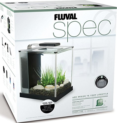Fluval SPEC III Aquarium Kit, Aquarium with LED Lighting and 3-Stage Filtration System, 2.6 Gallon, Black, 10515A1