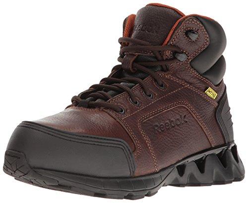 Reebok Work Men's Zigkick Work RB7605 Industrial and Construction Shoe, Brown, 14 W US