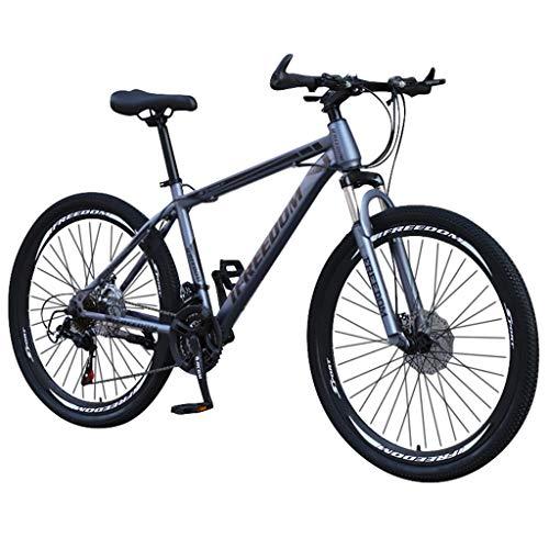 Adult Cruiser Bike 26in Bicycle Fashion Bike Carbon Steel Mountain Bike 21 Speed Bicycle Full Outdoor Bike Commute (Black)