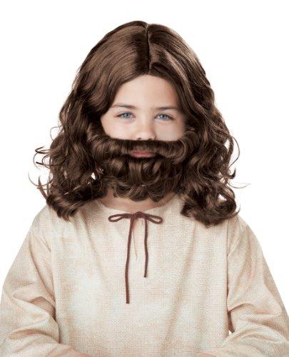 California Costumes Jesus Wig and Beard Child Costume, Acc