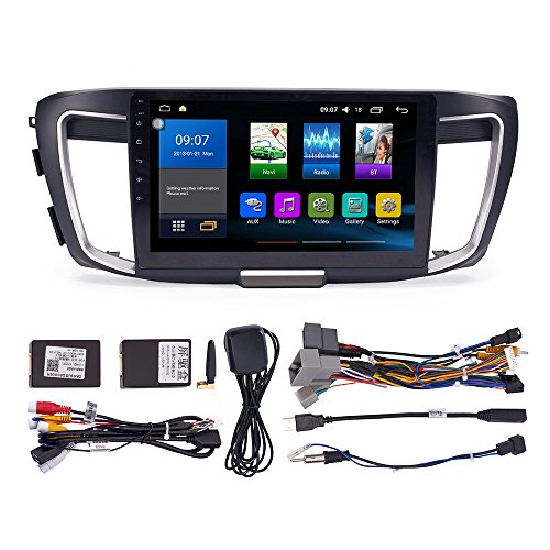 Android 9.1 Autoradio Car Navigation Stereo Multimedia Player GPS Radio 2.5D IPS Touch Screen for Honda Accord 2013-2019 2.4L