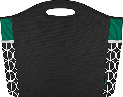 Thermos Raya Premium 24 Can Cooler Tote Bag, Emerald Green Zebra