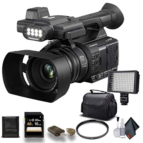 Panasonic AG-AC30 Full HD Camcorder (AG-AC30PJ) with 16GB Memory Card, LED Light, Case and More. - Starter Bundle