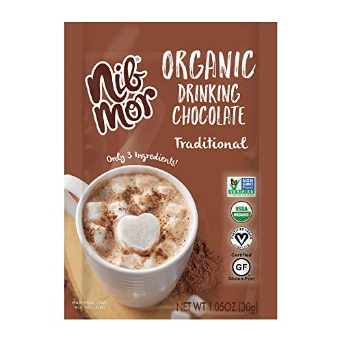 Nib Mor Organic Drinking Chocolate - Delicious, Healthy Treat - Traditional, 1.05 oz (Pack of 6)