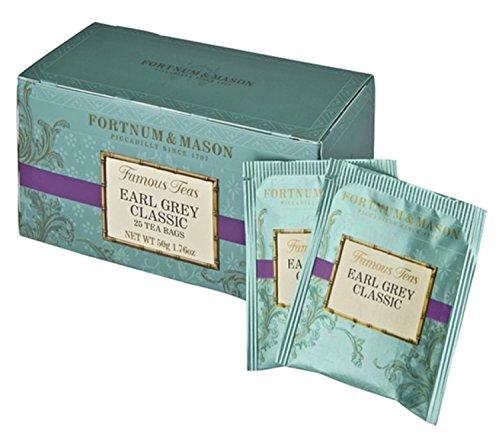 Fortnum and Mason British Tea. Earl Grey Classic 25 Count Tea Bags (1 Pack) USA