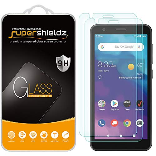 (2 Pack) Supershieldz Designed for ZTE (Blade Vantage 2) Tempered Glass Screen Protector, Anti Scratch, Bubble Free