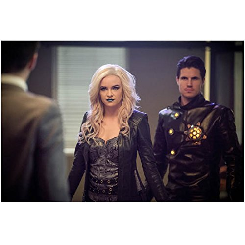 The Flash Danielle Panabaker as Killer Frost with Robbie Amell as Deathstorm with man in grey suit 8 x 10 Inch Photo