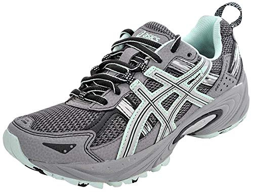 ASICS Women's Gel-Venture 5 Frost Gray/Silver/Soothing Sea Running Shoe 8.5 M US