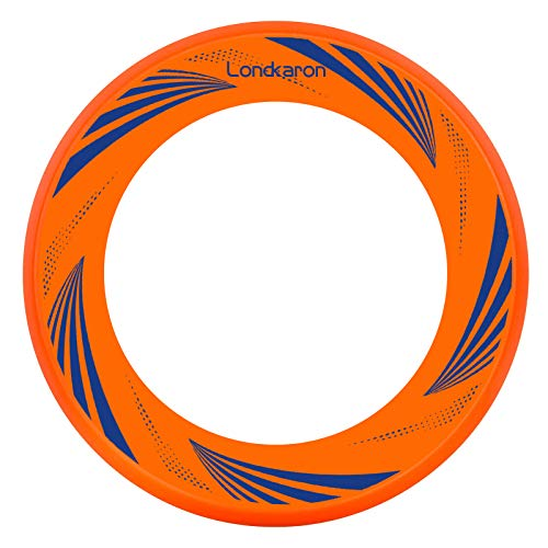 Londkaron Kids' Soft Polymers Flying Rings Fly Straight & Don't Hurt, 40% Lighter Than Standard Flying Discs - Replace Screen Time with Healthy Family Fun (Orange(1-Pack))