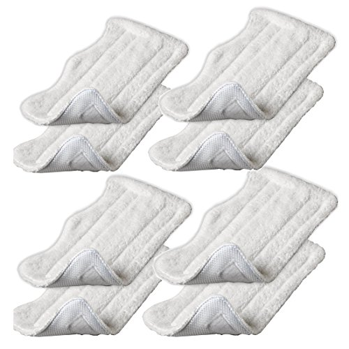 Replacement Microfiber Pads for Euro Pro Shark Steam Mop S3250 S3101 Pack of 8