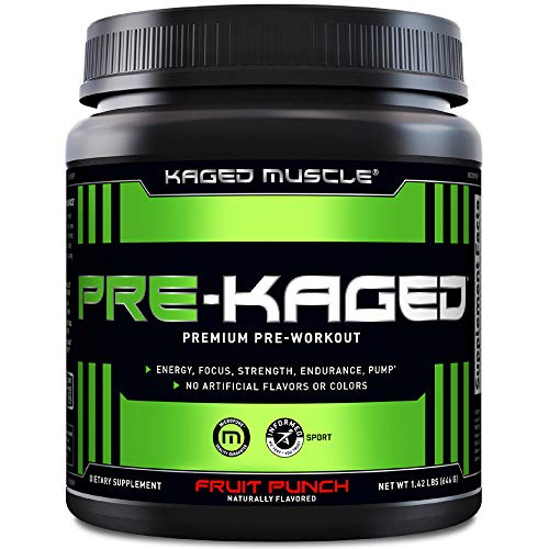 Pre Workout Powder; KAGED MUSCLE Preworkout for Men & Pre Workout Women, Delivers Intense Workout Energy, Focus & Pumps; One of the Highest Rated Pre-Workout Supplements, Fruit Punch, Natural Flavors