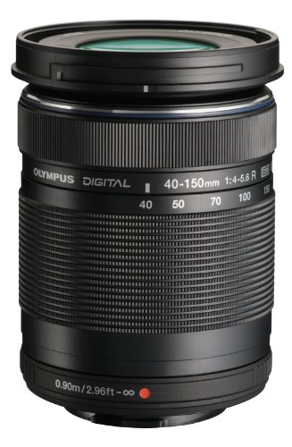Olympus M.Zuiko Digital ED 40-150mm F4.0-5.6 R Zoom Lens, for Micro Four Thirds Cameras (Black)