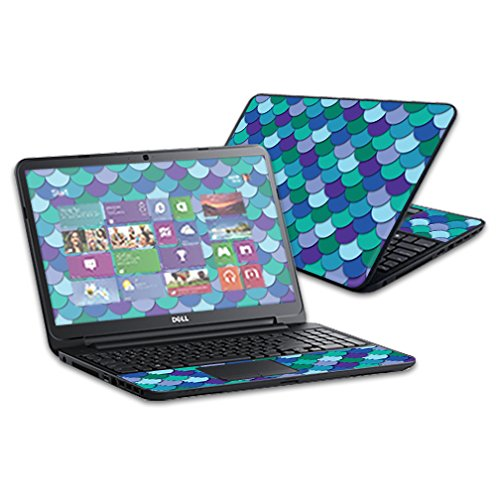 Mightyskins Skin Compatible with Dell Inspiron 15 I15rv Laptop 15.6' (Released 2013) Wrap Sticker Skins Blue Scales