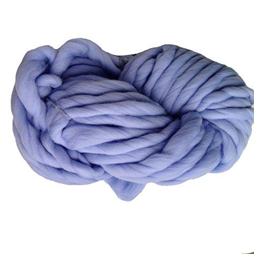 Zituop Super Chunky Roving Bulky Yarn for Hand Knitting Crochet, 250g, 8.8 Ounze (Sky Blue)