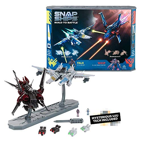 PlayMonster Snap Ships Battle Set: Wasp K.L.A.W. Heavy Fighter and Falx SC-41 Escort
