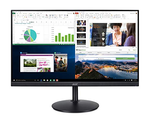 Acer CB272 bmiprx 27' Full HD (1920 x 1080) IPS Zero Frame Home Office Monitor with AMD Radeon Free Sync - 1ms VRB, 75Hz Refresh, Height Adjustable Stand with Tilt & Pivot (Display, HDMI & VGA ports)