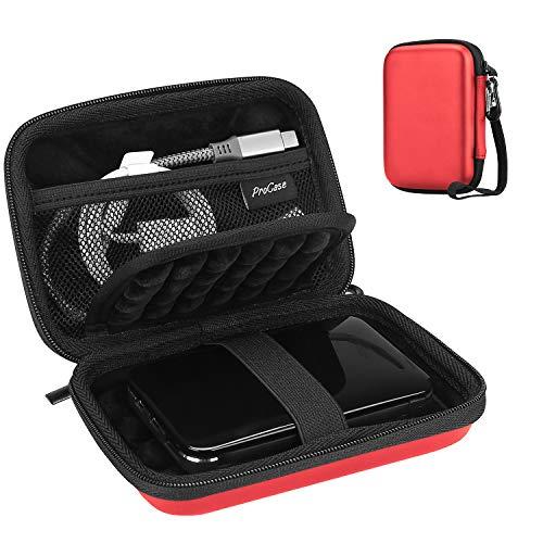 ProCase Portable Hard Drive Case for Canvio Basics Western Digital WD Elements My Passport Seagate Portable Backup Plus Slim 1TB 2TB 3TB 4TB USB 3.0, 2.5' Portable External Hard Drive Case -Red