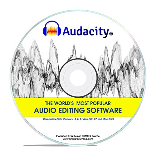 Audacity 2020 Newest Professional Pro Audio Music Editing Recording Software Win 10,8,7,*Vista* And XP Mac OS X Linux
