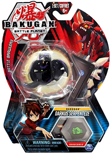 Bakugan, Darkus Serpenteze, 2-inch Tall Collectible Transforming Creature, for Ages 6 and Up