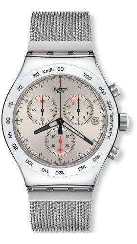 Swatch Silverish Chronograph Watch For Small Wrist 6' YVS405GB
