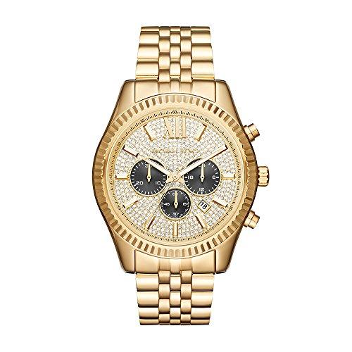 Michael Kors Men's Lexington Gold-Tone Watch MK8494