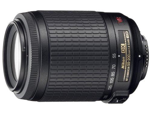 Nikon 55-200mm f/4-5.6G ED IF AF-S DX VR [Vibration Reduction] Nikkor Zoom Lens Bulk packaging (White box, New)