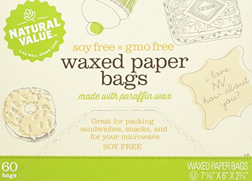 Natural Value Waxed Paper Bags, 60 Count (Pack Of 12)