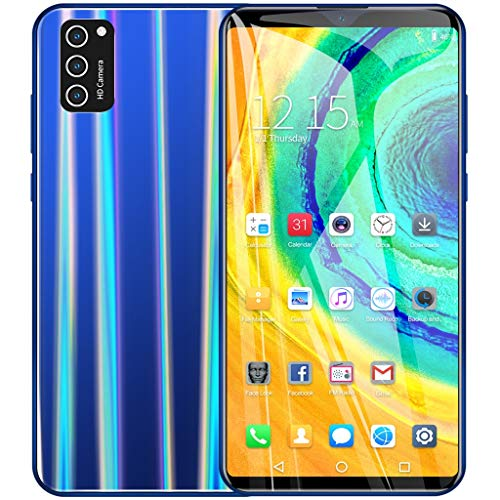 happyYE 2020 New Unlocked Smartphone, 6.0 Inch Ultrathin Dual SIM Cell Phone- Android 6.1 Quad Core 1G+8G GSM 3G WiFi Unlocked Mobile Phone Big Battery (Blue)