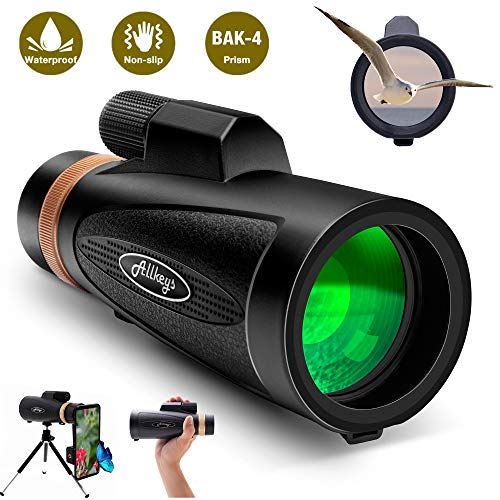 Monocular Telescope12·16X60 High Power Quick Smartphone Holder - 2020 Newest Waterproof Monocular -FMC BAK4 Prism for Wildlife Bird Watching Hunting Camping Travelling