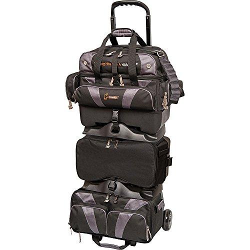 Hammer Premium 6-Ball Stackable Bowling Bag, Black/Carbon